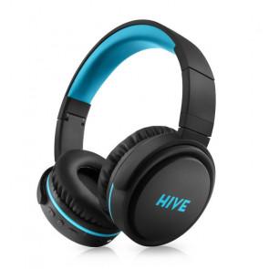 Sluchátka Niceboy HIVE XL - černá/tyrkysová